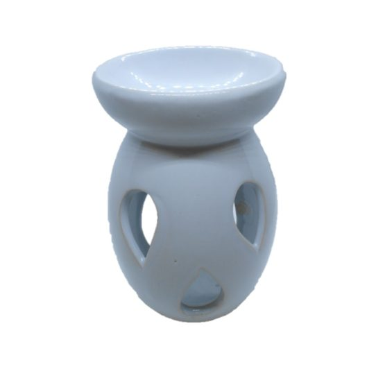 Oliebrander druppelvorm wit