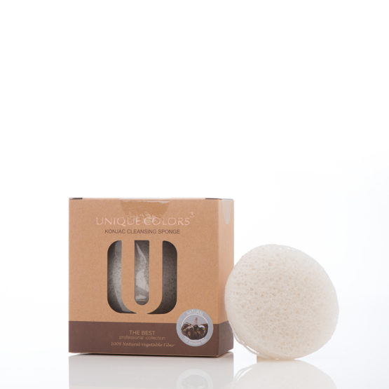 Konjac Cleansing Sponge voor de gevoelige huid (Natural/Wit)